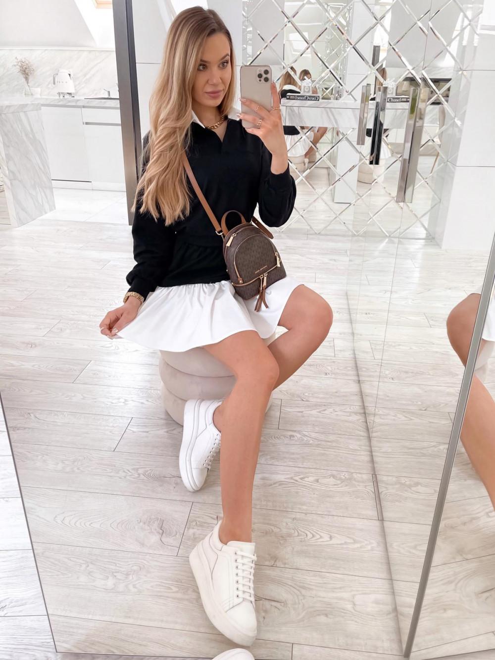 Czarny zestaw spódniczki i bluzy Dulce 2