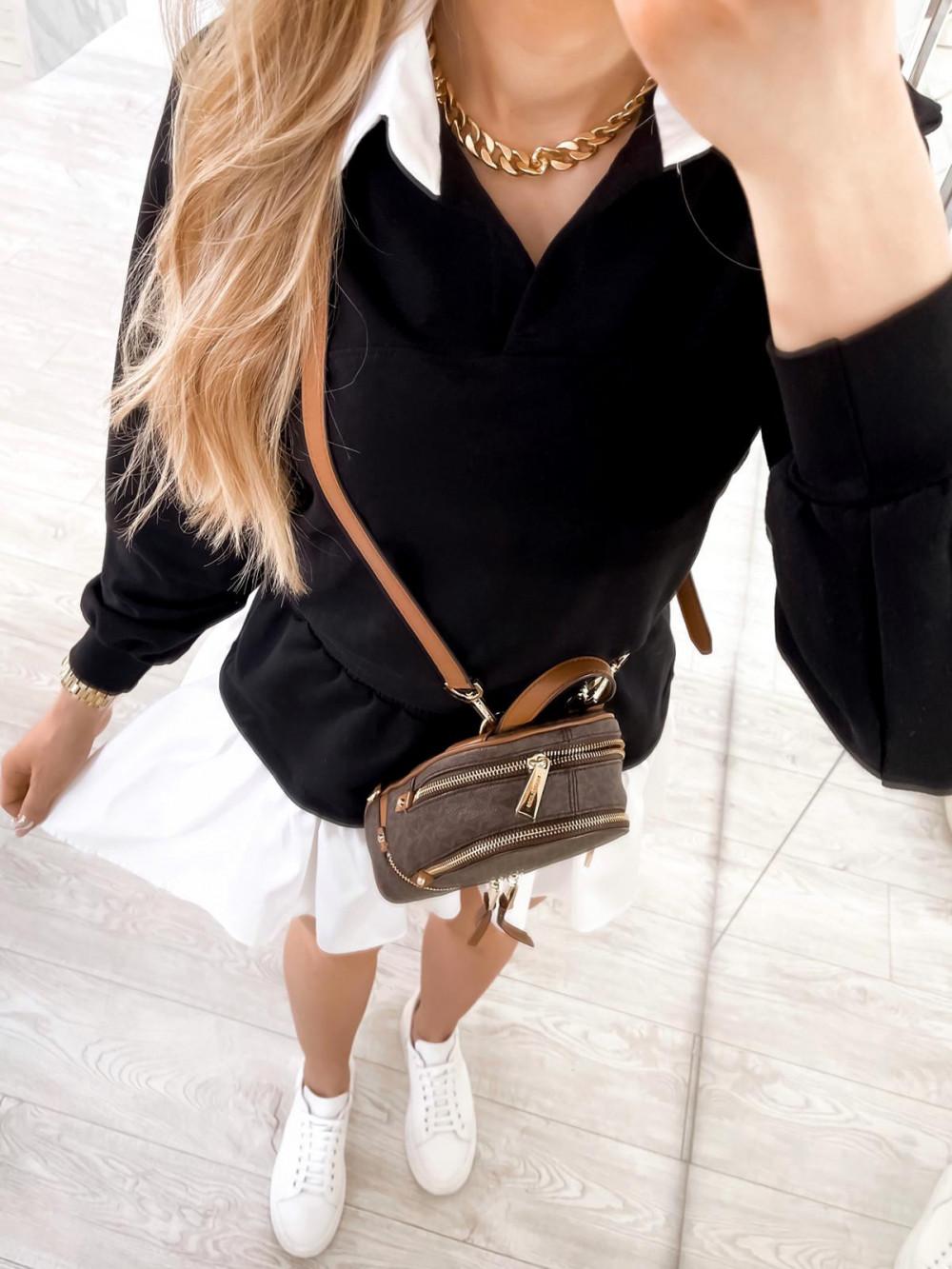Czarny zestaw spódniczki i bluzy Dulce 7