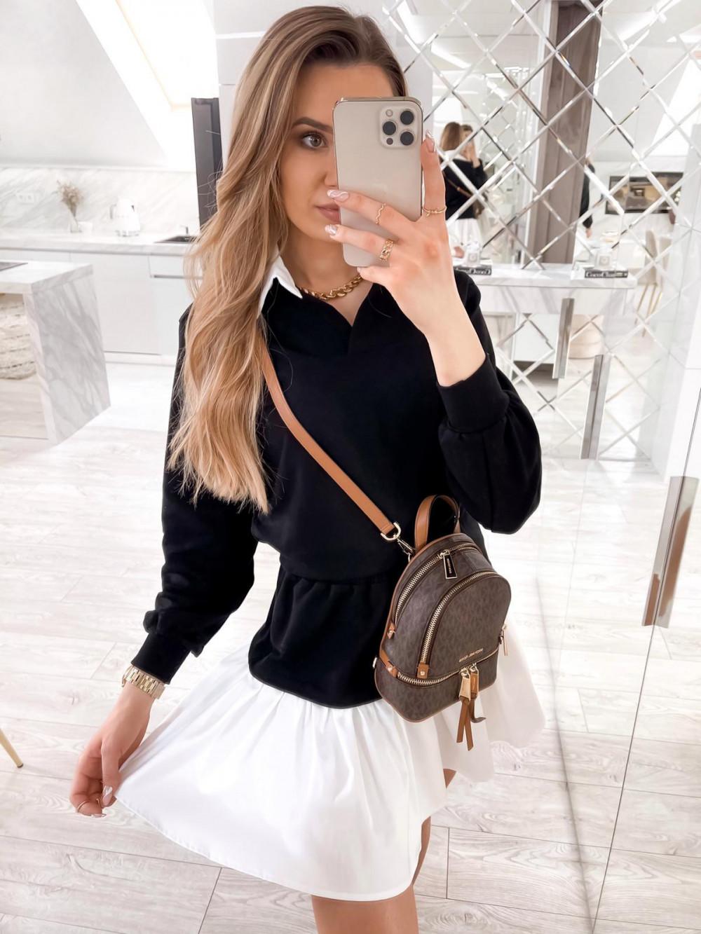 Czarny zestaw spódniczki i bluzy Dulce 3