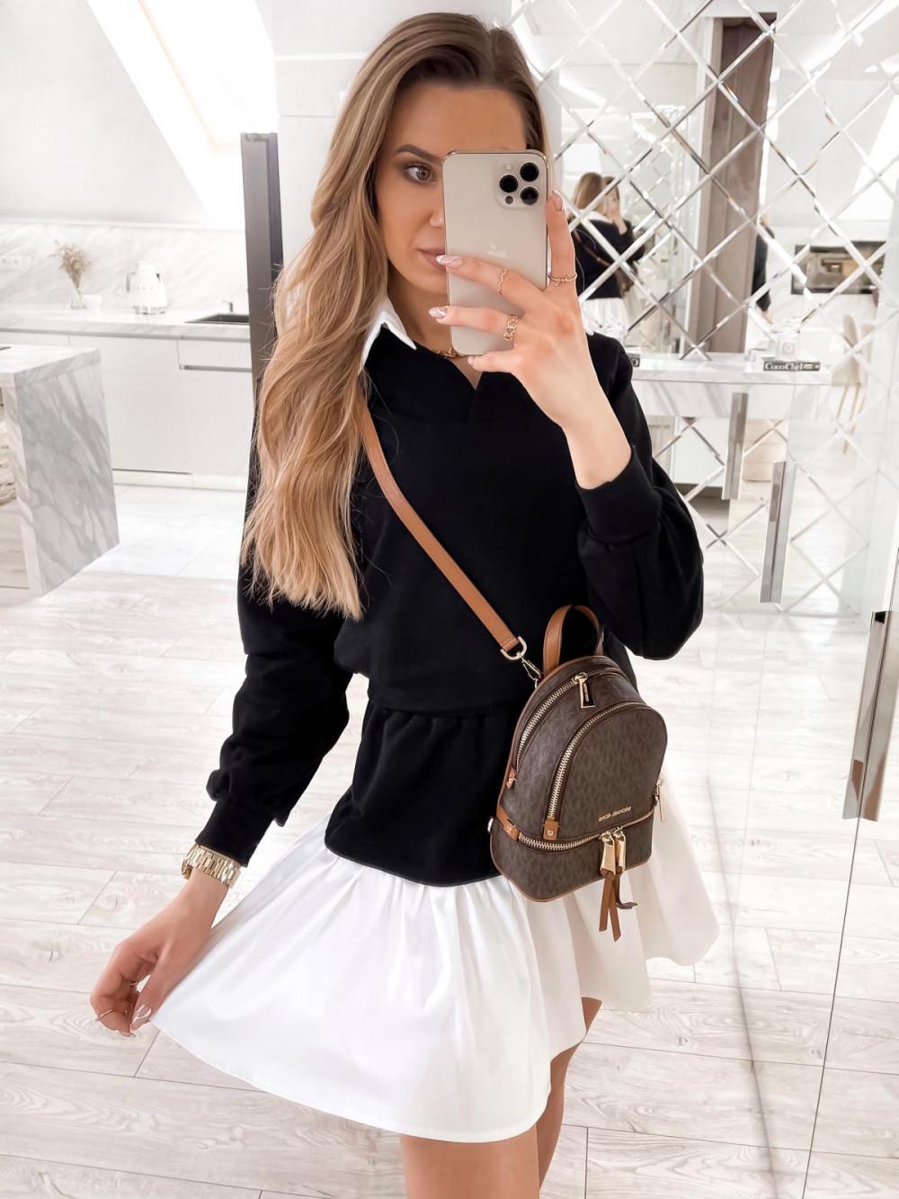 Czarny zestaw spódniczki i bluzy Dulce 4