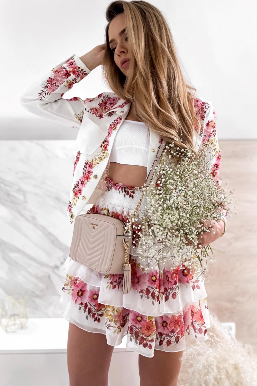 Różowy kwiatowy komplet katany i spódniczki Florencia 6