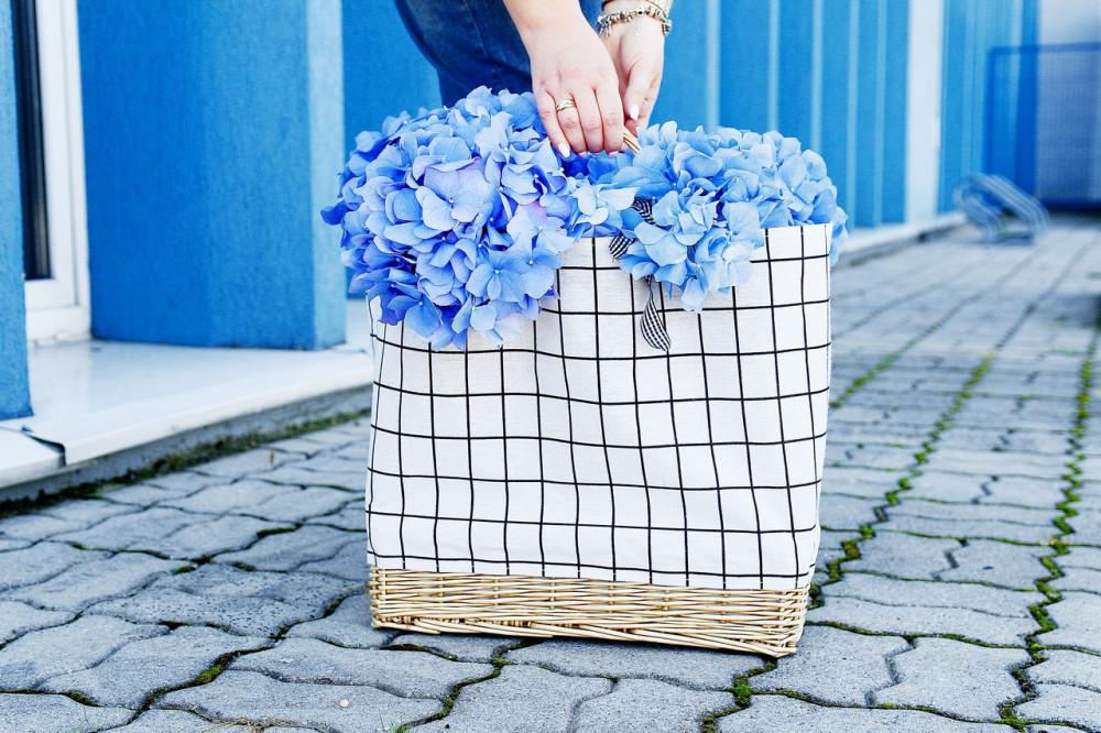 Beżowa torebka damska wiklinowa w kratkę shopper Aperto 6