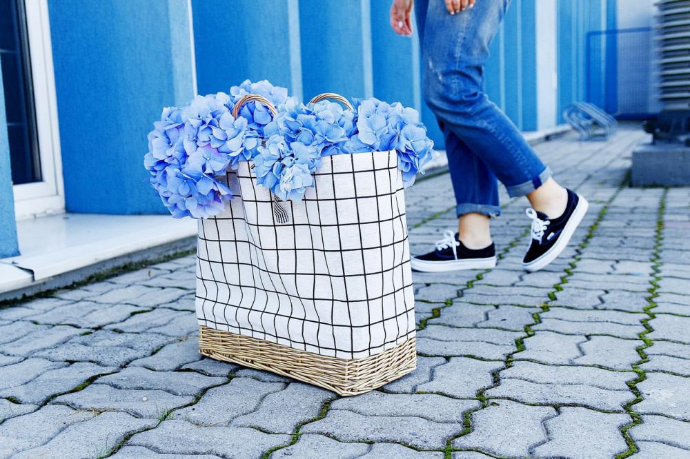 Beżowa torebka damska wiklinowa w kratkę shopper Aperto 7