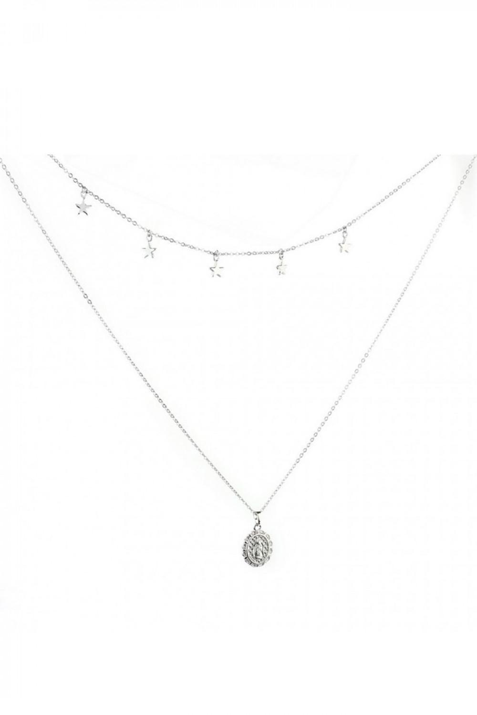 Srebrny naszyjnik celebrytka kaskadowy metalik Maria 1