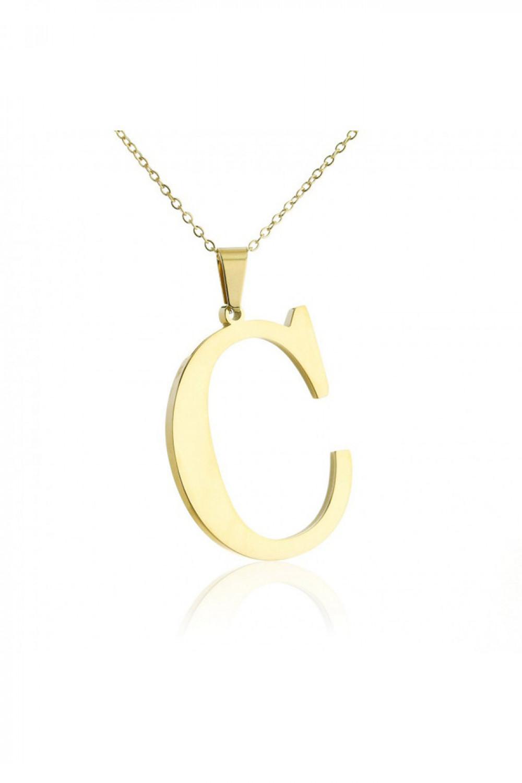 Naszyjnik celebrytka pogrubiona litera C 1