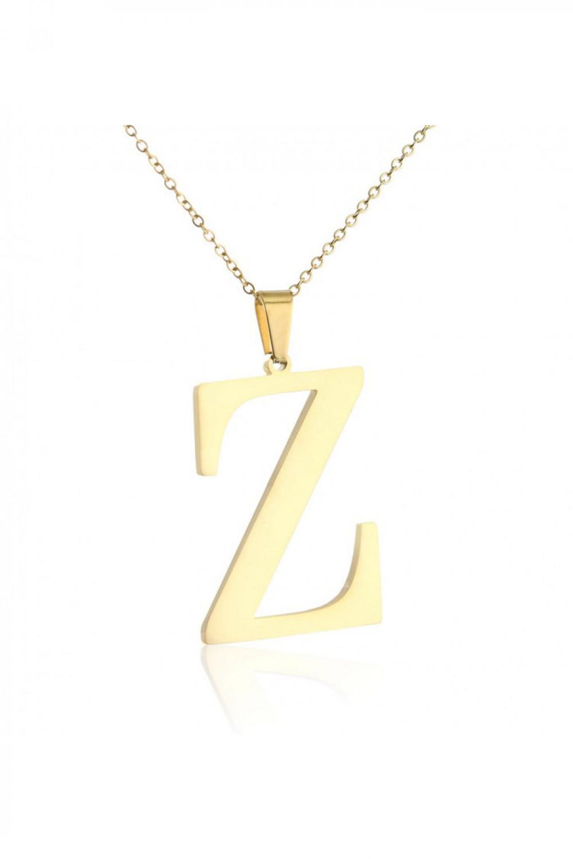 Naszyjnik celebrytka pogrubiona litera Z 1