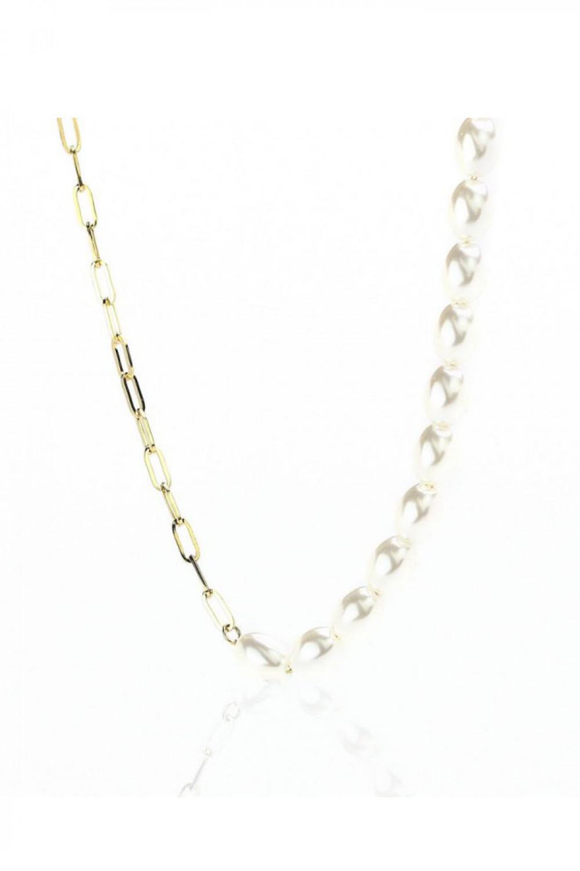 Naszyjnik celebrytka łańcuch z perłami Lucette 1