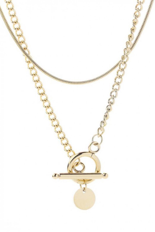 Naszyjnik celebrytka kaskadowy łańcuchy Claude 1
