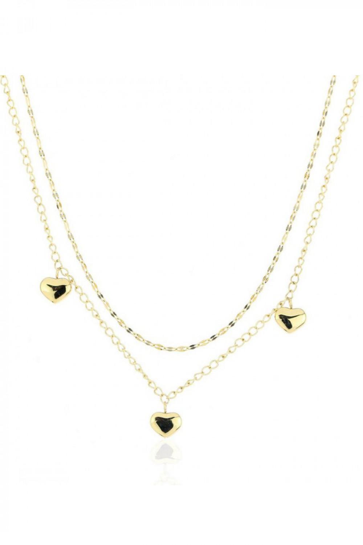Naszyjnik celebrytka kaskadowy z sercami Sylviane 1