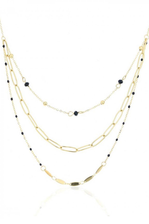 Naszyjnik celebrytka kaskadowy z czarnymi kryształkami Alizee 1