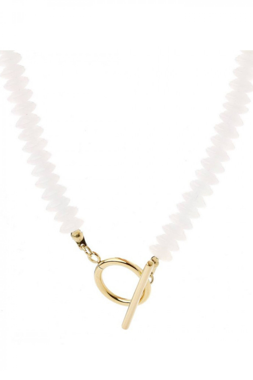 Naszyjnik celebrytka z perełkami Gianna 1