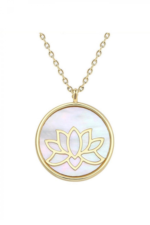 Naszyjnik celebrytka kwiat lotosu Orsola 1