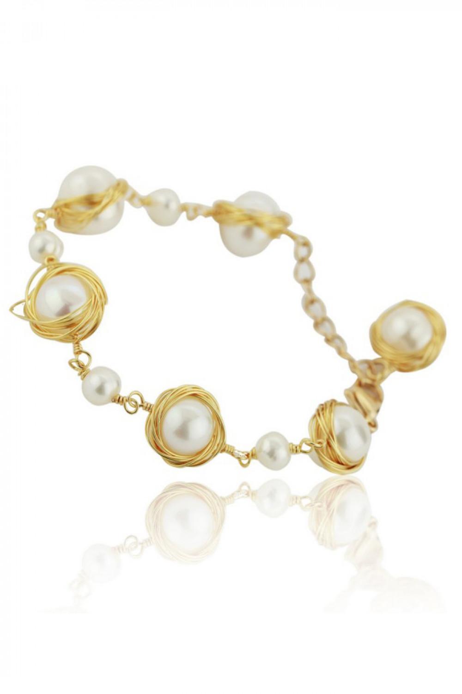 Bransoletka celebrytka z perłami Vasa 1