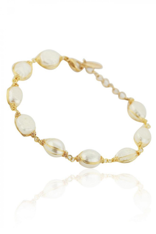 Bransoletka celebrytka z perłami Viktorie 1