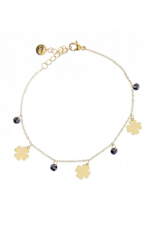Bransoletka celebrytka z kwiatkami i cyrkoniami Roxanna 1