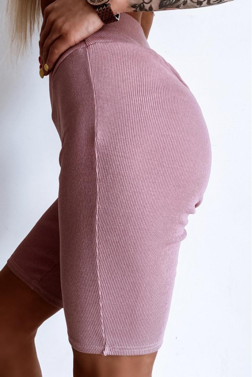 Różowe kolarki damskie z efektem push-up Noémi 4