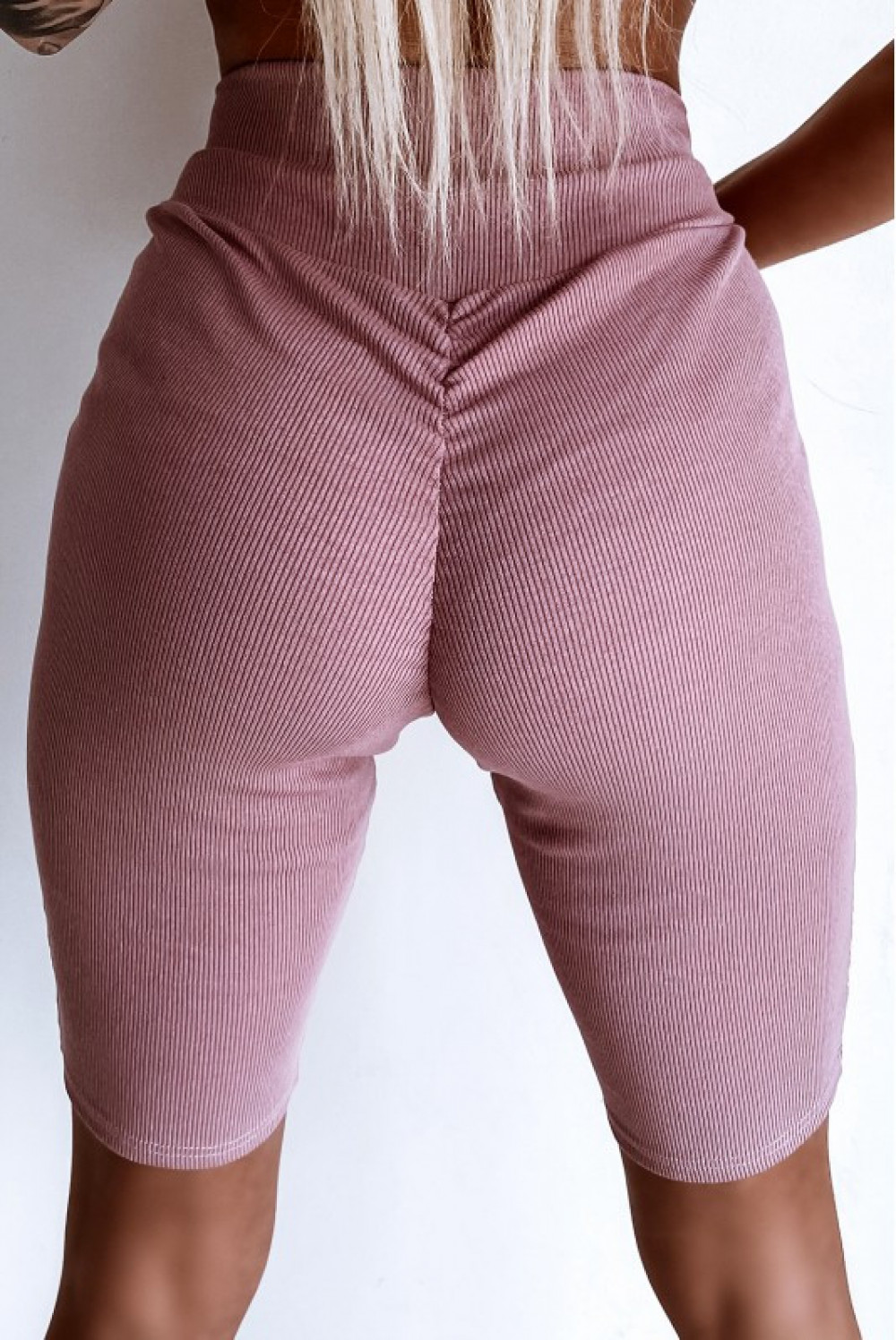 Różowe kolarki damskie z efektem push-up Noémi 1