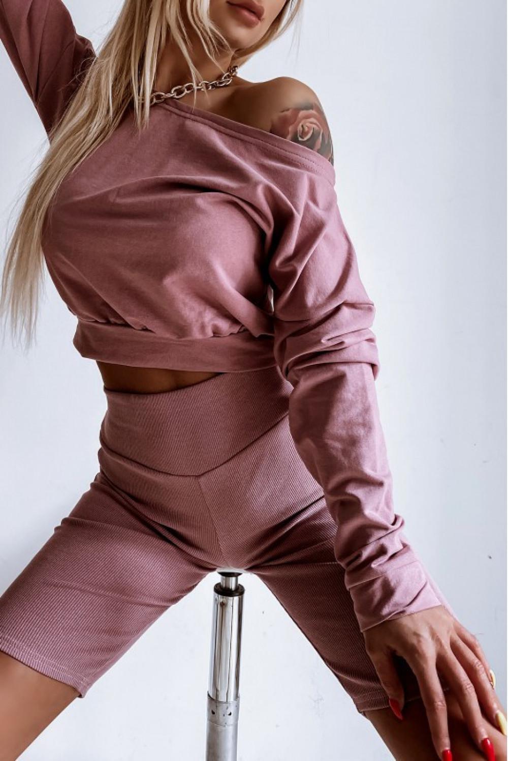 Różowe kolarki damskie z efektem push-up Noémi 2