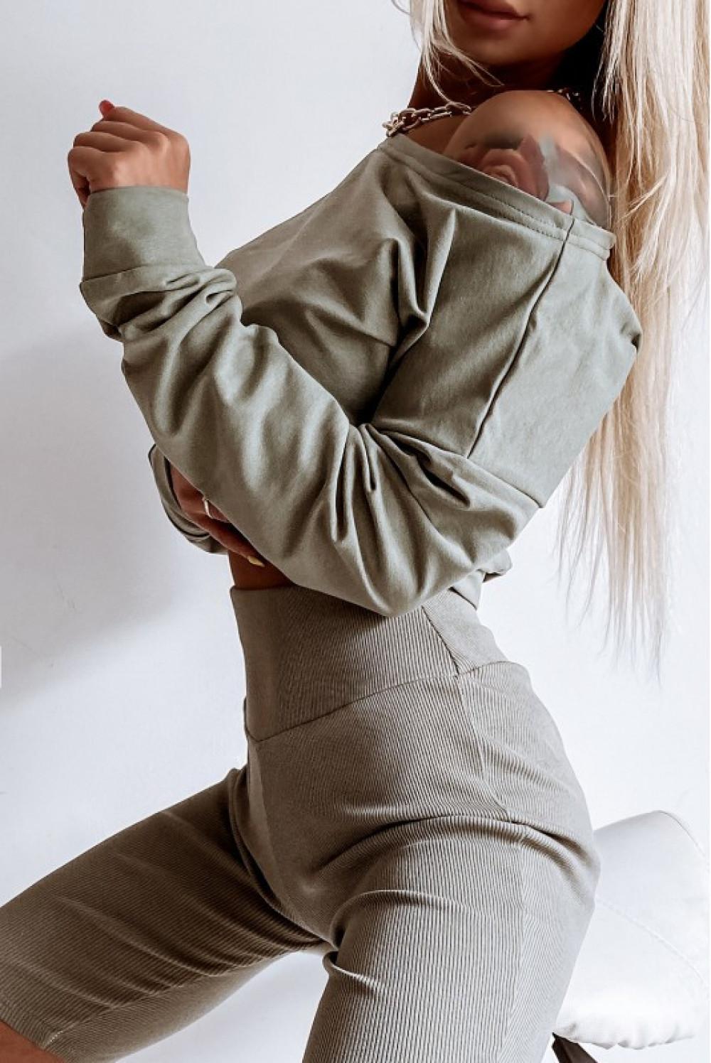 Khaki kolarki damskie z efektem push-up Noémi 2
