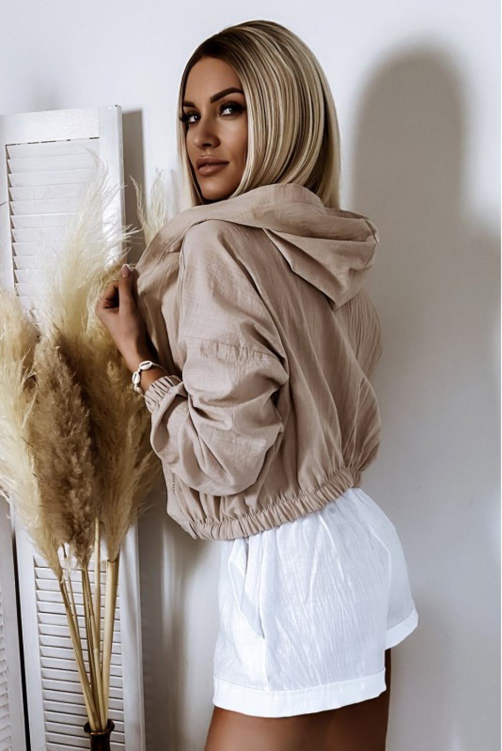 Białe bawełniane szorty boho Marielle 3