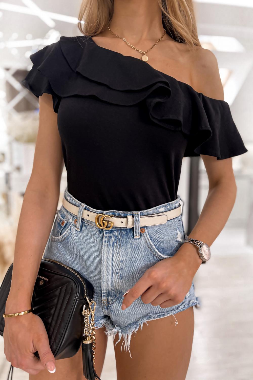 Czarna bluzka z falbankami hiszpanka Amalia 4