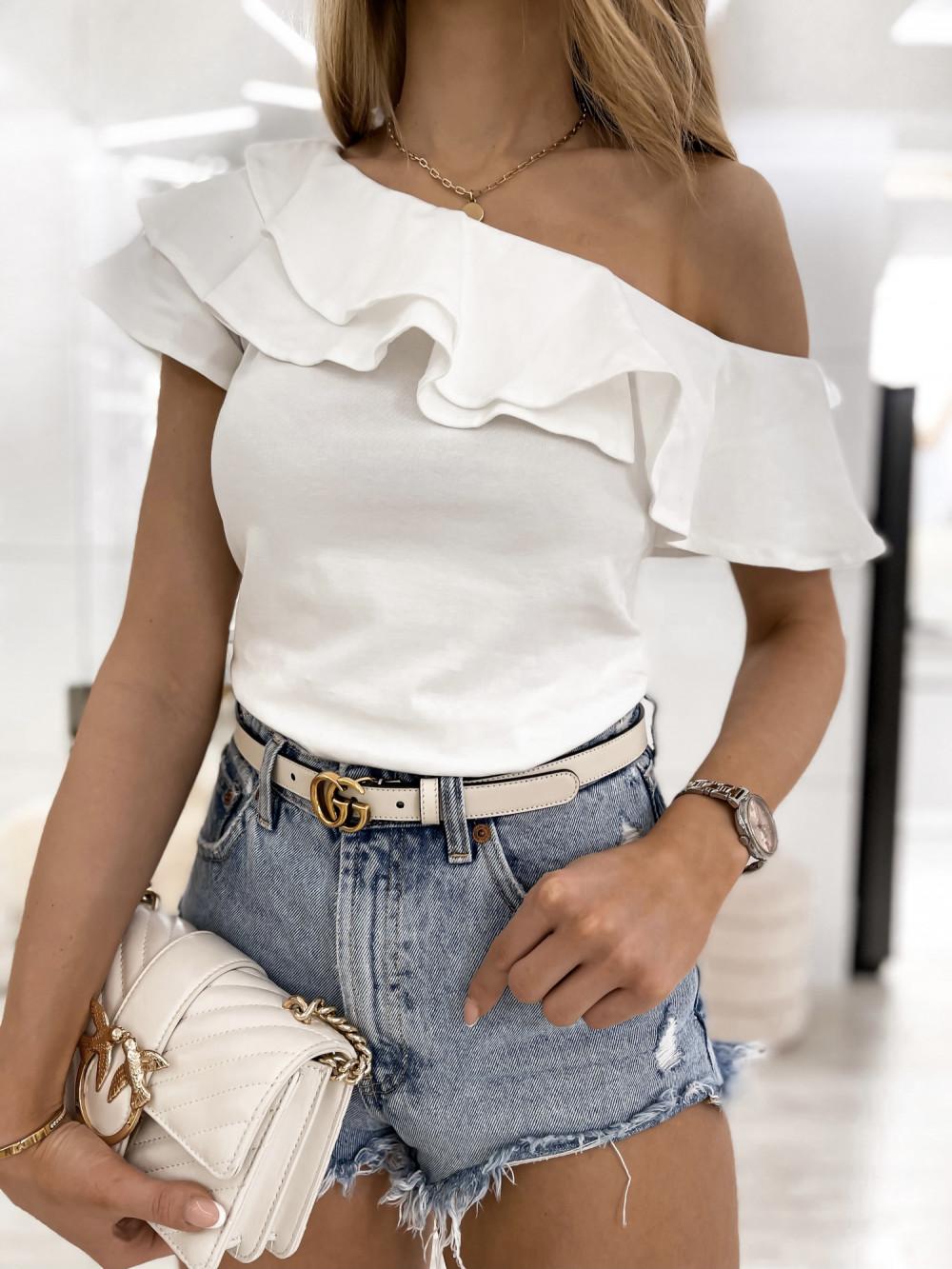 Biała bluzka z falbankami hiszpanka Amalia 2