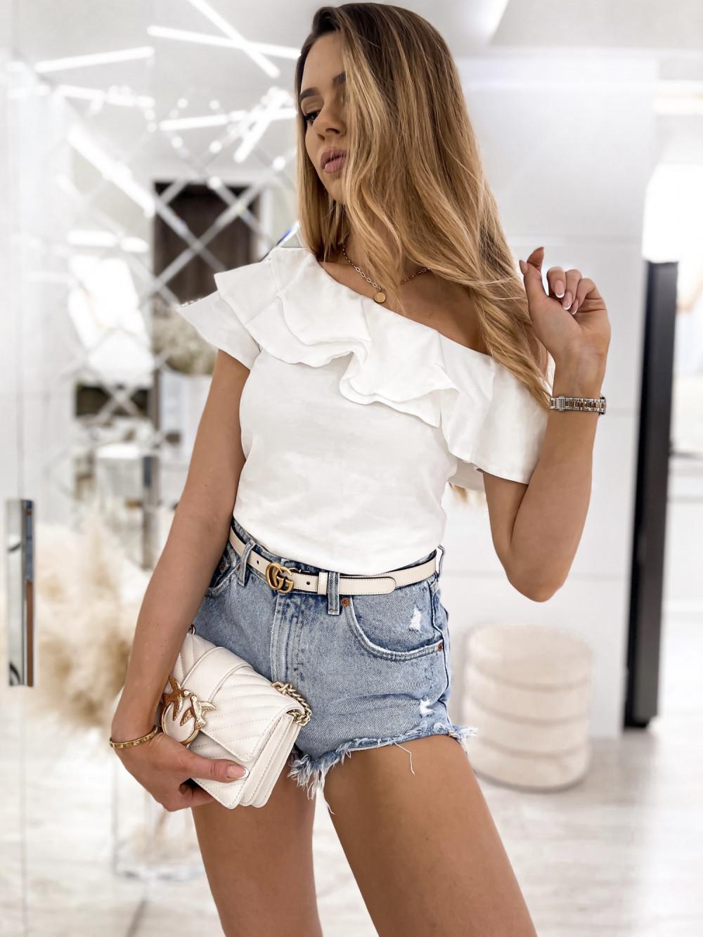 Biała bluzka z falbankami hiszpanka Amalia 1