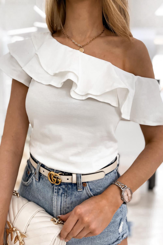 Biała bluzka z falbankami hiszpanka Amalia 4