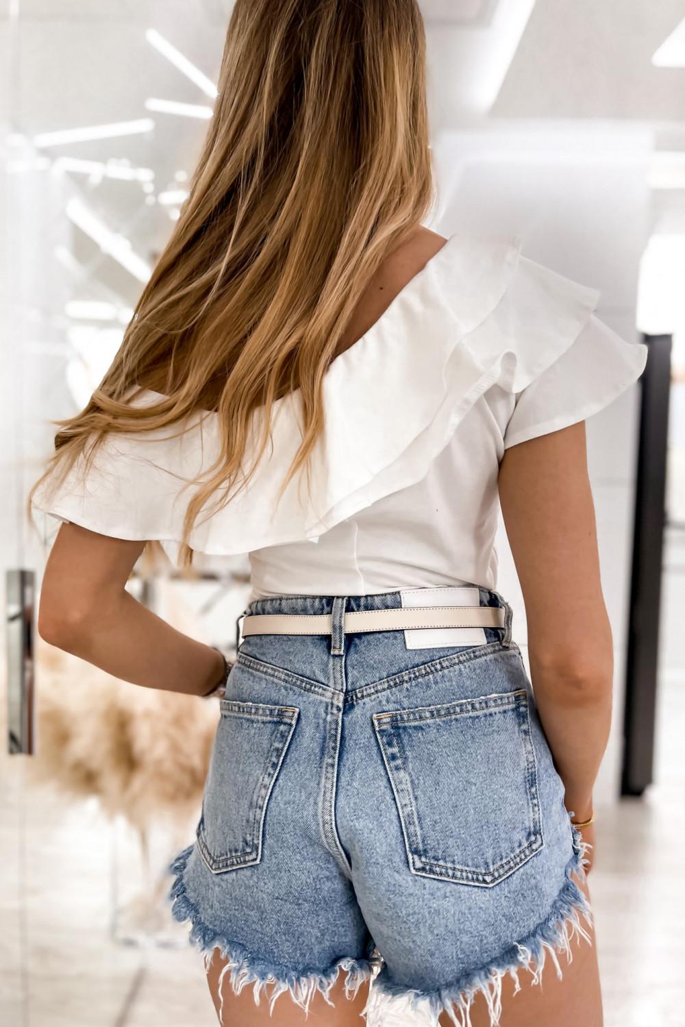 Biała bluzka z falbankami hiszpanka Amalia 6