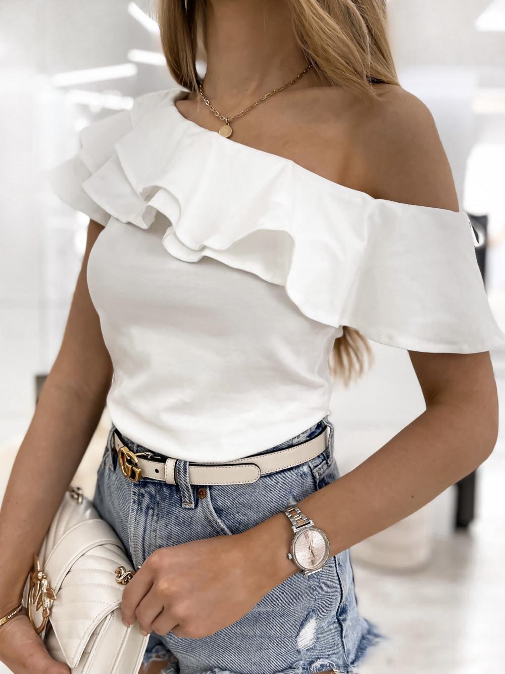 Biała bluzka z falbankami hiszpanka Amalia 5