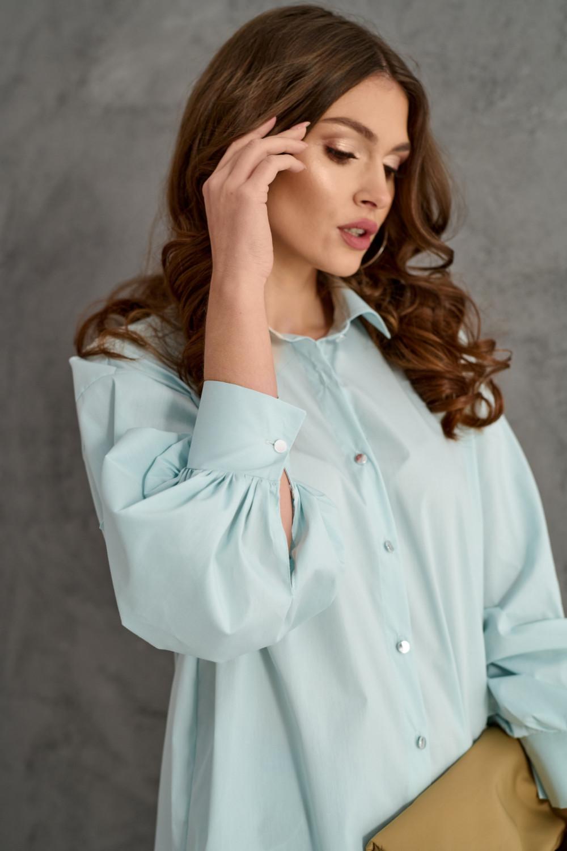 Miętowa koszula oversize Cécile 3