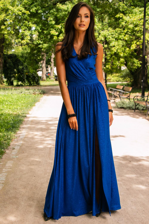Chabrowa brokatowa sukienka wieczorowa maxi Micheline 2