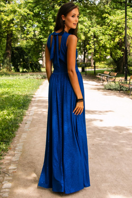 Chabrowa brokatowa sukienka wieczorowa maxi Micheline 4