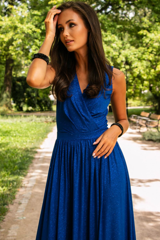 Chabrowa brokatowa sukienka wieczorowa maxi Micheline 5