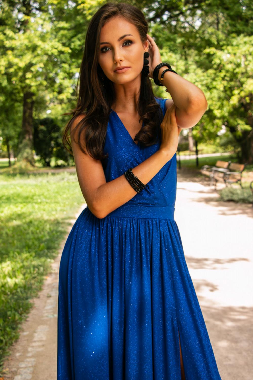 Chabrowa brokatowa sukienka wieczorowa maxi Micheline 6