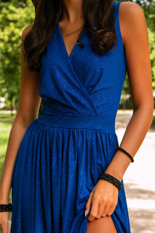 Chabrowa brokatowa sukienka wieczorowa maxi Micheline 7