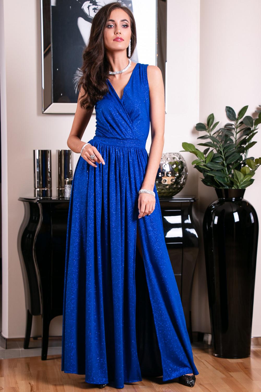 Chabrowa brokatowa sukienka wieczorowa maxi Micheline 8