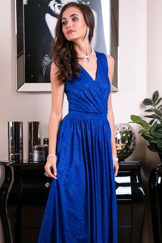 Chabrowa brokatowa sukienka wieczorowa maxi Micheline 9