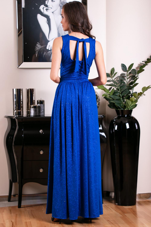 Chabrowa brokatowa sukienka wieczorowa maxi Micheline 10