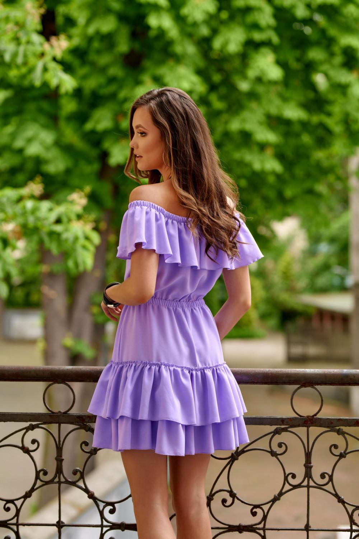 Fioletowa sukienka hiszpanka z falbanką Emy 3