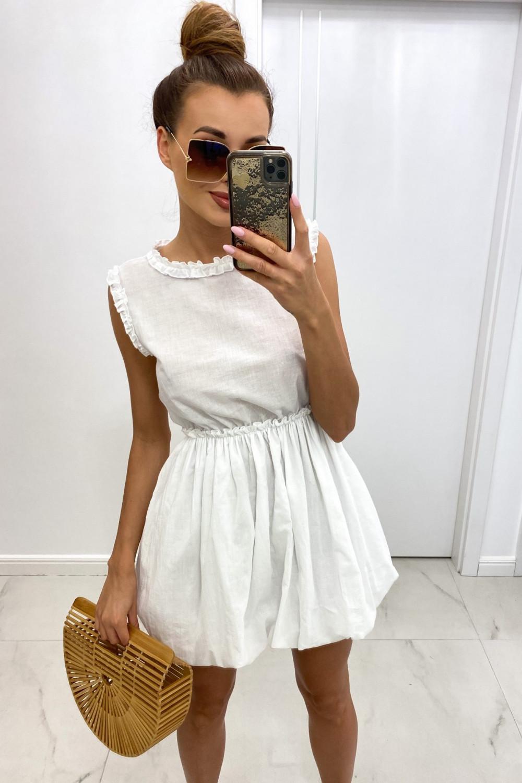 Biała rozkloszowana sukienka boho Alice 1