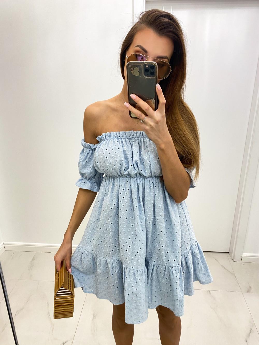 Jasnoniebieska boho sukienka hiszpanka ażurowa Liviana 1