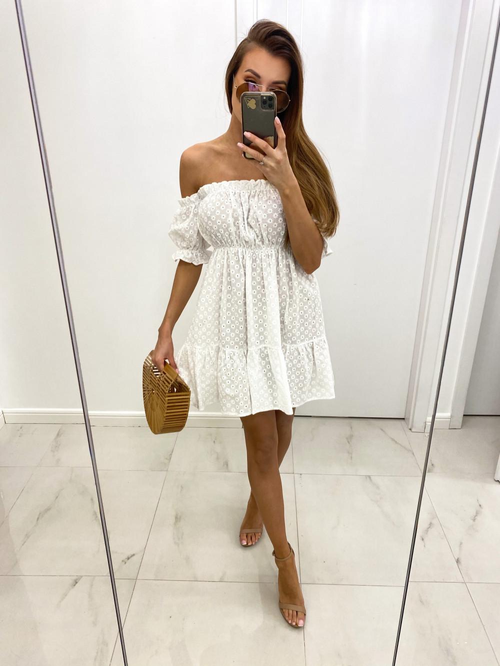 Biała boho sukienka hiszpanka ażurowa Liviana 2
