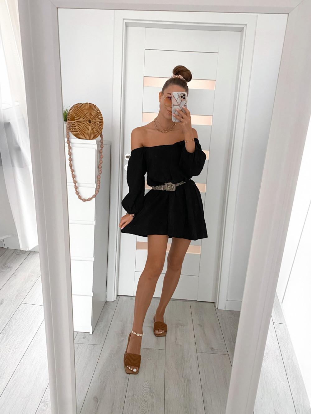 Czarna ażurowa sukienka hiszpanka Juliana 2