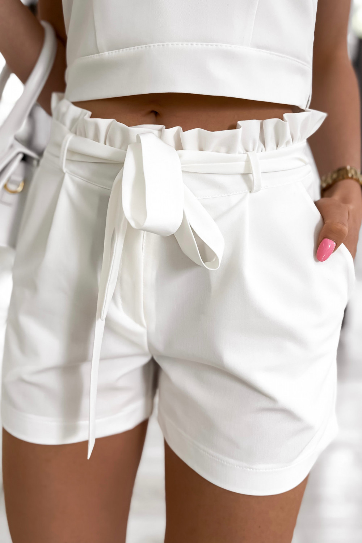 Biały komplet damski gorset i krótkie spodenki Penelope 6