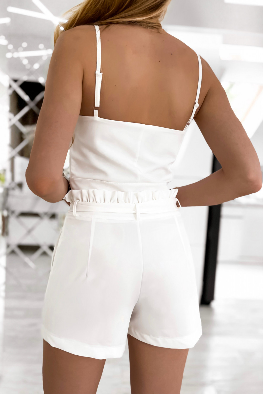 Biały komplet damski gorset i krótkie spodenki Penelope 8