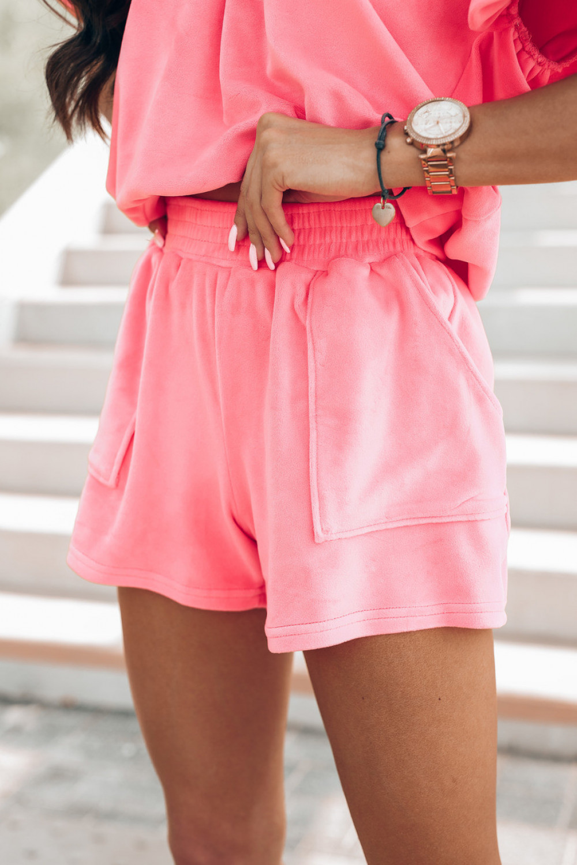 Różowy komplet damski z wiązaniem na plecach Sonya 4