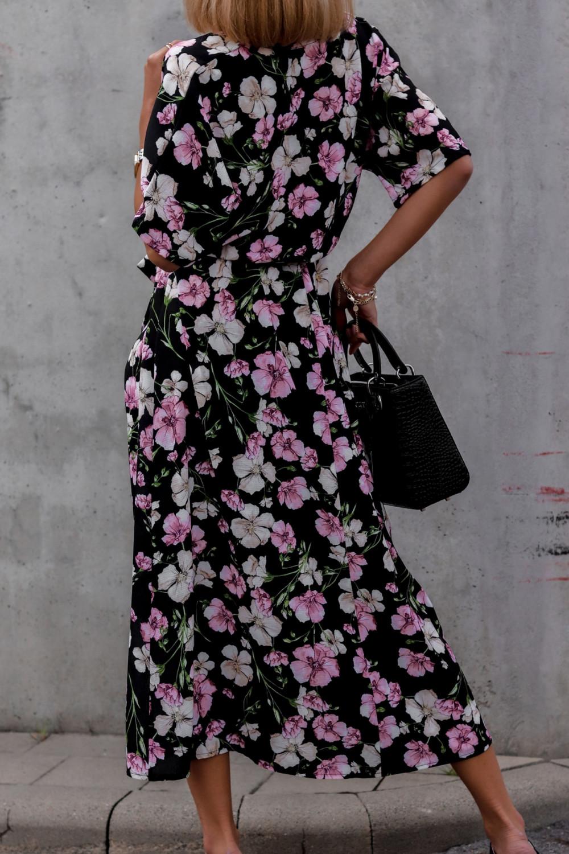 Czarna sukienka kwiatowa midi Martina 5