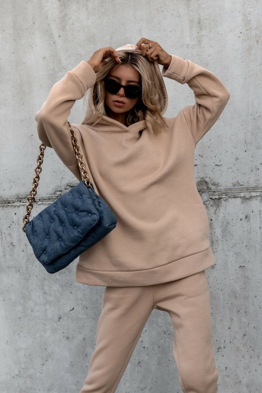 Beżowy komplet dresowy bluzka i spodnie Arianna 4