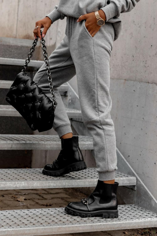 Szary komplet dresowy bluzka i spodnie Arianna 6